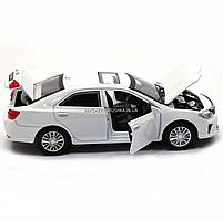Машинка игровая автопром «Toyota Camry» Тойота, белая, металл, 14 см, (свет, звук, двери открываются) 7814, фото 7
