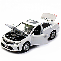 Машинка ігрова автопром «Toyota Camry» Тойота, біла, метал, 14 см, (світло, звук, двері відкриваються) 7814, фото 8