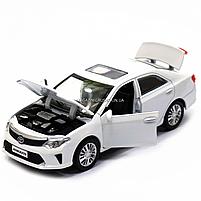 Машинка игровая автопром «Toyota Camry» Тойота, белая, металл, 14 см, (свет, звук, двери открываются) 7814, фото 8