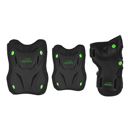 Комплект защитный Nils Extreme H407 Size S Black/Green, фото 2