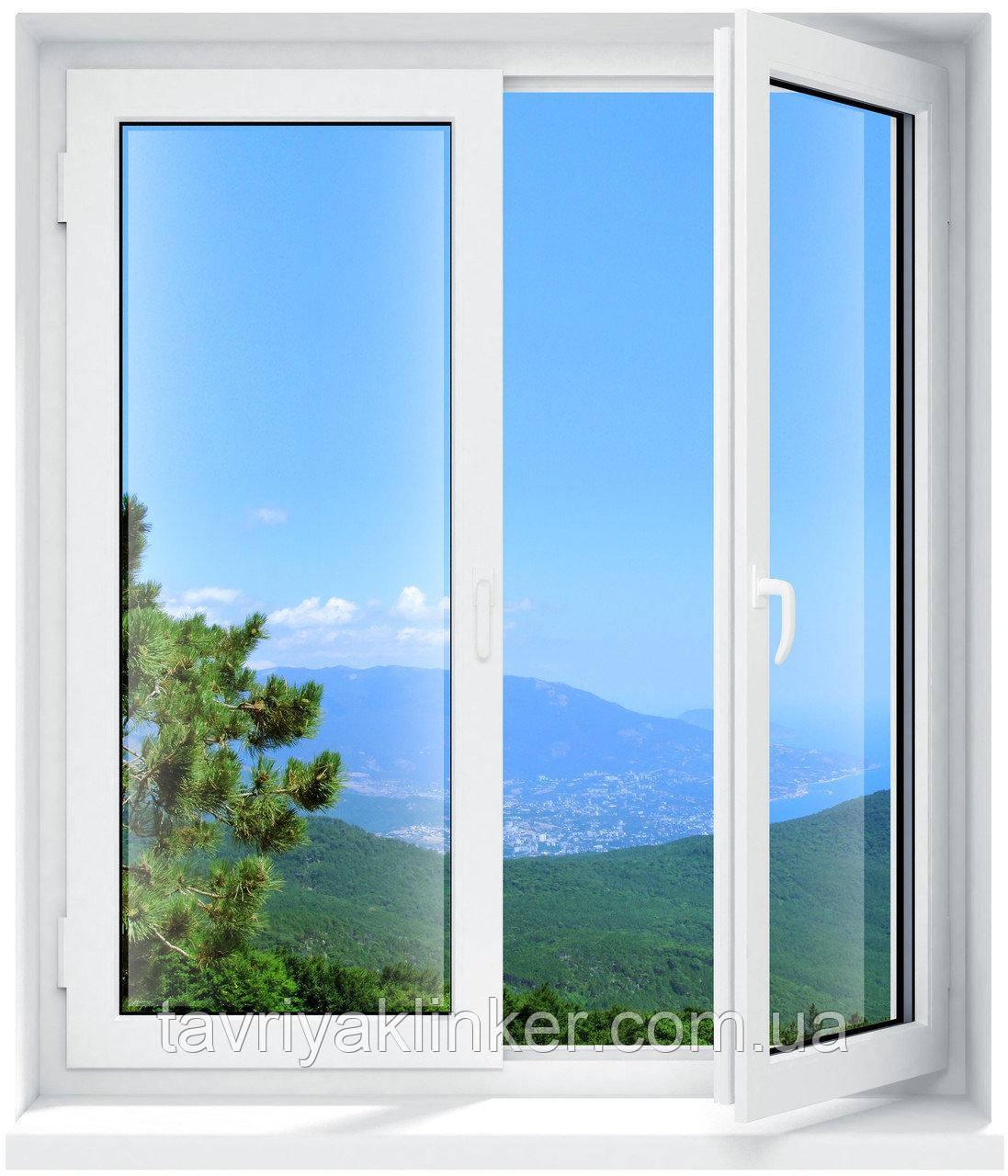 Двухчастное поворотно-откидное окно Брокельман 5 кам 1300*1400