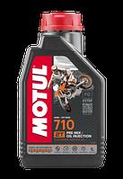 Моторне масло MOTUL 710 2T (1л) для двотактних мотоциклів. API ТЗ; JASO FD