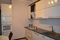 Кухня с крашеными 3D фасадами МДФ, фото 1