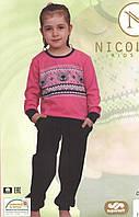 Пижама детская  с брючками    для девочки