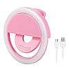Светодиодное селфи кольцо Selfie Ring Light №A03-189 розовое, 3 режима, 36LED, селфи кольцо