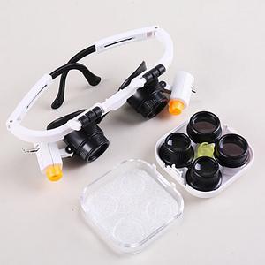 Бінокулярні окуляри з LED підсвічуванням 9892RD Збільшення: 6x/10x/25x