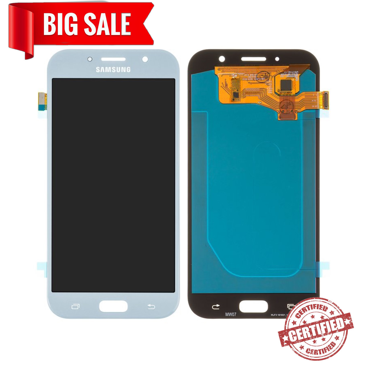 Модуль (сенсор+дисплей) для Samsung A720/A7(2017) OLED блакитний