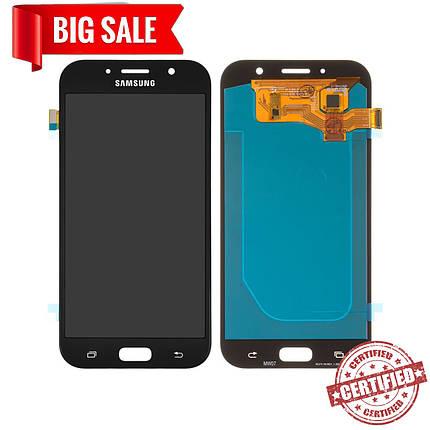 Модуль (сенсор + дисплей) для Samsung A720 / A7 (2017) OLED черный, фото 2
