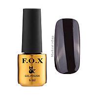 Гель лак черный F.O.X gel-polish gold Pigment, 6ml №002