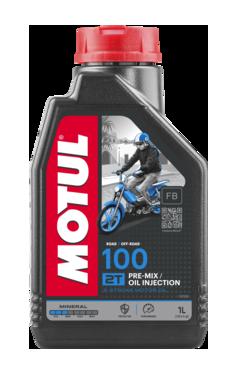 Моторное масло MOTUL 100 2T (1л) для двухтактных мотоциклов. API TC; JASO FB