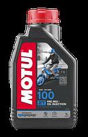 Моторное масло MOTUL 100 2T (1л) для двухтактных мотоциклов. API TC; JASO FB, фото 1
