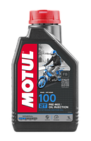 Моторне масло MOTUL 100 2T (1л) для двотактних мотоциклів. API TC; JASO FB