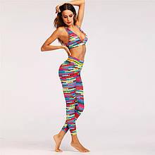 Леггинсы Sportmix женские разноцветные принт Вязка в наличии размер S, M, L