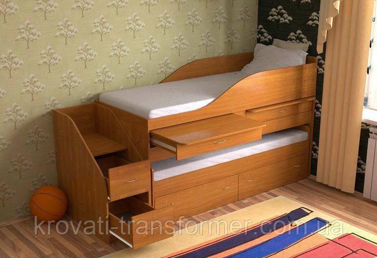 """Двухъярусная кровать """"Пара"""" орех"""