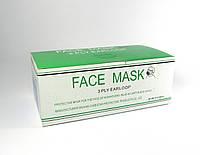МАСКИ FACE MASK трехслойные на резинках медицинские, - 50 шт.|упак .