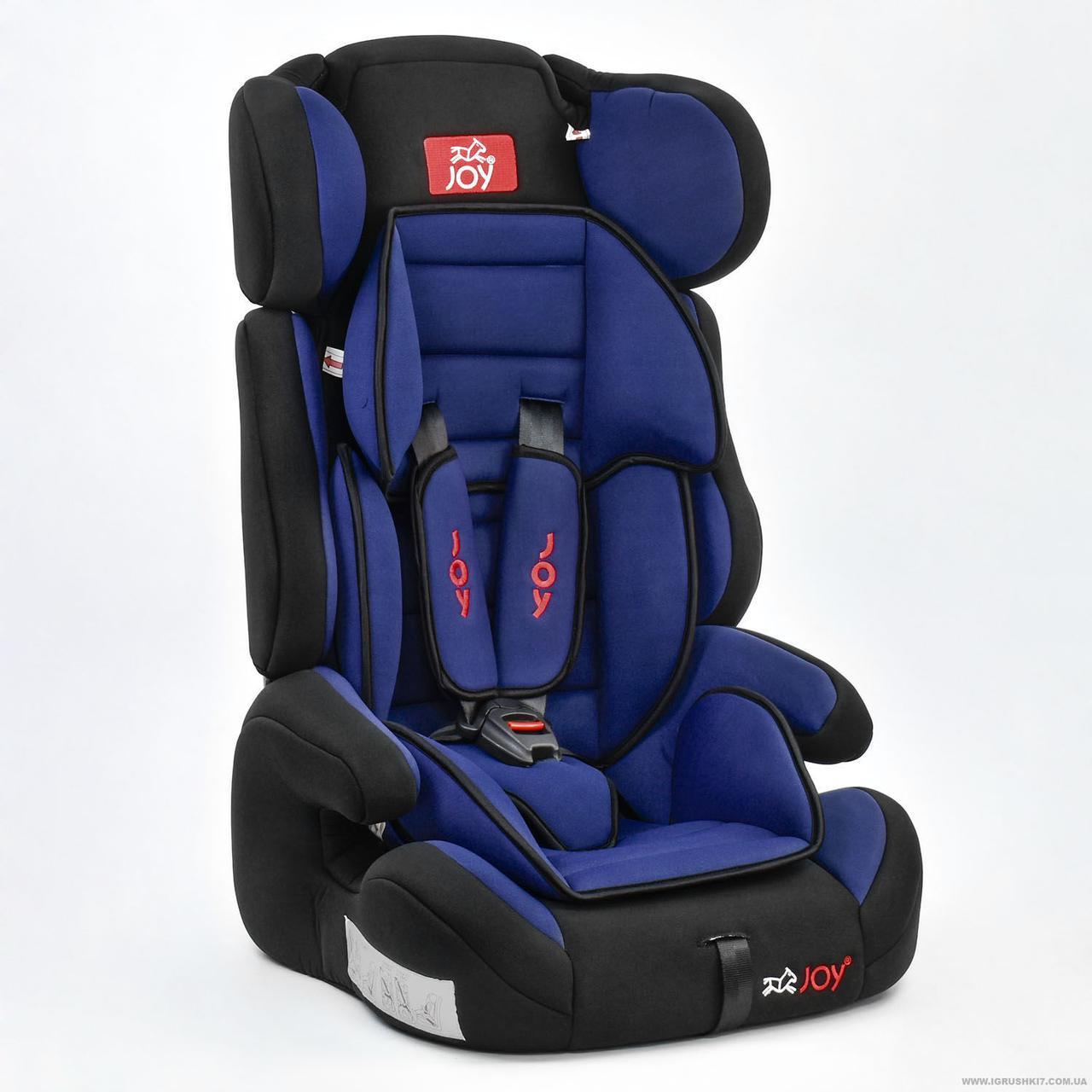 Автокресло универсальное Цвет чёрно-синий 9-36 кг, с бустером, Joy