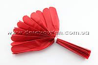 Помпон из тишью, красный, 25 см