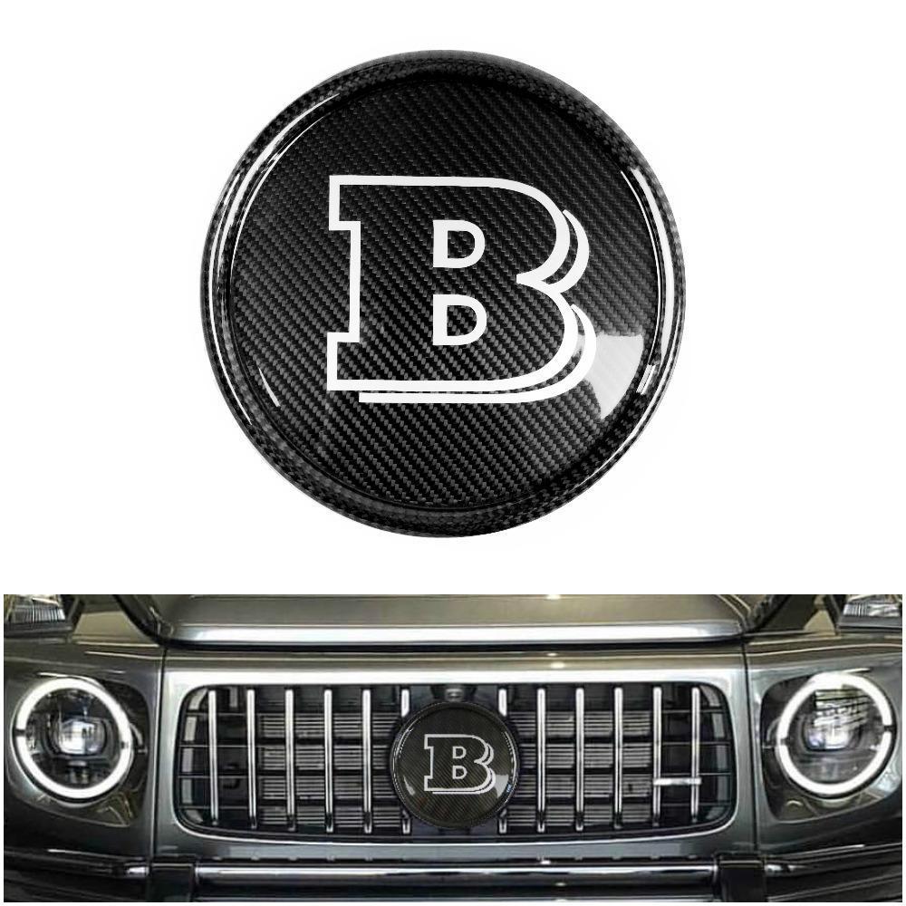 Карбоновая эмблема Brabus в решетку радиатора Mercedes G-class W463a W464
