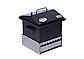 Коптильня Крышка Домиком 300х300х250 с термометром окрашенная, фото 5