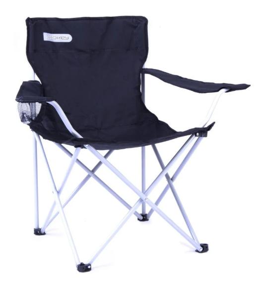 Туристический раскладной стул Spokey Angler Черный ( 839631)