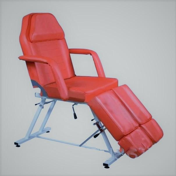 Педикюрно-косметологическое кресло-кушетка для педикюра SP813-А цвет красный/белый/черный/темно-коричневый