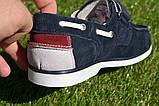 Детские туфли мокасины на липучке для мальчика замша синие р32 - 37, фото 5