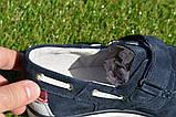 Детские туфли мокасины на липучке для мальчика замша синие р32 - 37, фото 3