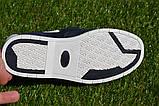 Детские туфли мокасины на липучке для мальчика замша синие р32 - 37, фото 6