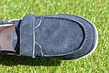 Детские туфли мокасины на липучке для мальчика замша синие р32 - 37, фото 9