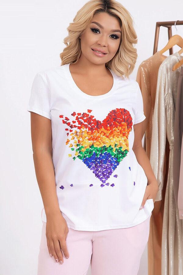 Модная футболка с принтом 632 (48–62р) в расцветках