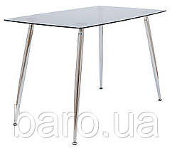 Стол стеклянный Итали, 70*120*75h, Хром, стекло тонированное, Richman