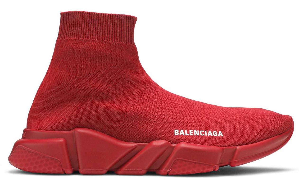 """Кроссовки Balenciaga Speed Trainer """"Красные"""""""