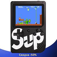 Ігрова приставка SUP Game Box 400в1 Чорна - Приставка Dendy з підключенням до телевізора, портативна консоль