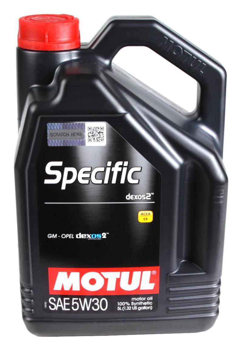Моторное масло MOTUL SPECIFIC DEXOS2 5W30 (5л) ACEA C3; API SM/CF