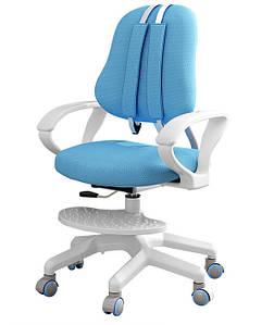 Детское растущее кресло ErgoKids синее + чехол в подарок