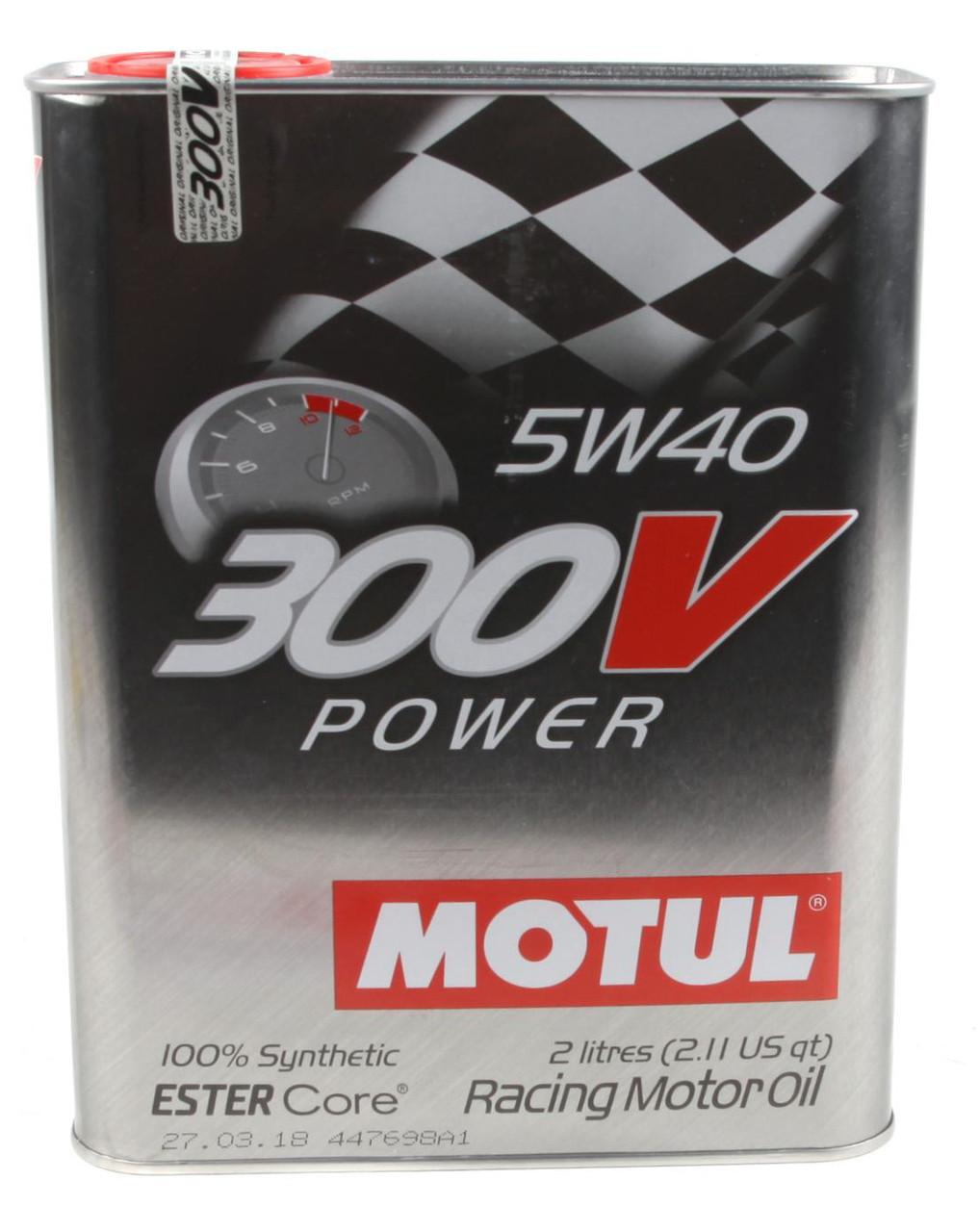 Моторное масло MOTUL 300V POWER 5W40 ESTER Core для спортивных автомобилей (2л)