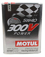 Моторное масло MOTUL 300V POWER 5W40 ESTER Core для спортивных автомобилей (2л), фото 1