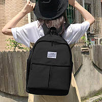 Рюкзак городской женский спортивный, повседневный (для учебы, работы, тренировок, путешествий) черный