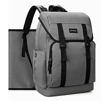 Многофункциональный рюкзак для мамы и малыша Мommore с пеленальным ковриком Серый (MM0090003A008)