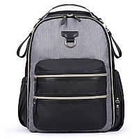 Многофункциональный рюкзак для мамы и малыша Мommore с пеленальным ковриком Серый (MM3101305A008)