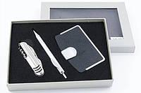 Фирменный подарочный набор, для автомобилиста, визитница и нож стильный подарок для мужчин и женщин (GK-007)