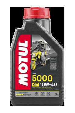 Моторне масло MOTUL 5000 10W40 4T (1л) для мотоциклів. API SL/SJ/SH/SG; JASO MA2