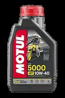 Моторне масло MOTUL 5000 10W40 4T (1л) для мотоциклів. API SL/SJ/SH/SG; JASO MA2, фото 1