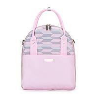 Сумка-рюкзак для мамы и малыша Мommore с пеленальным ковриком и термо кейсом для бутылочек Розовая
