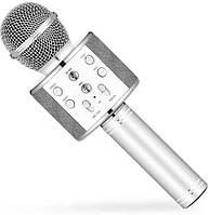 Караоке микрофон Wster WS 858 Серебристый 150, КОД: 1533168