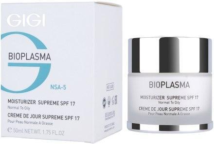 GIGI Bioplasma Moist Supreme SPF-17 - Крем увлажняющий для нормальной и жирной кожи SPF-17 50мл