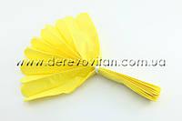 Помпон из тишью, желтый, 25 см