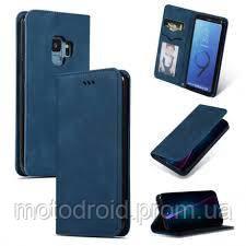 Чехол книжка для Samsung Galaxy S9 (G960) Black / blue magnet