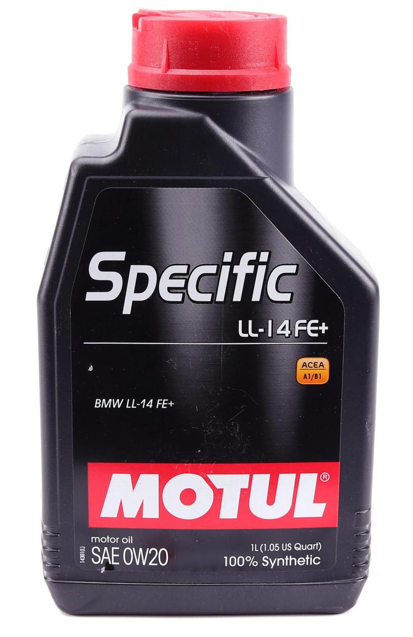 Моторное масло MOTUL SPECIFIC LL-14 FE+ 0W20 (1л) для двигателей BMW. ACEA A1/B1