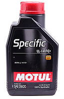 Моторное масло MOTUL SPECIFIC LL-14 FE+ 0W20 (1л) для двигателей BMW. ACEA A1/B1, фото 1